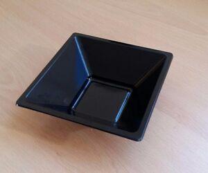 "50 x Black 4.7"" 12cm Square Disposable Plastic Bowls Party Wedding Buffet BBQ"