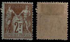 SAGE 2 francs bistre, Neuf * Gommé = Cote 200 € / Lot Classique France 105