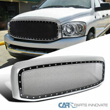 06-08 Dodge Ram 1500 2500 3500 Mesh Rivet Style Pickup Wire Grille+Chrome Shell