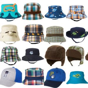 Gymboree Hats Baby Boy 0-3-6-12-18-24 Sun Hat Bucket Summer winter Plaid Red owl