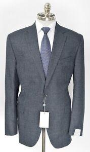 NWT  JACK VICTOR Gray Houndstooth Super 110's Wool Sport Coat Blazer 44 L EU 54