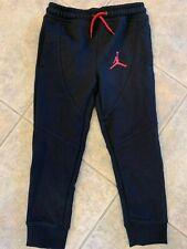 Boys Nike Jordan Jumpman Jogger Pants Gym Black Size 6 854602