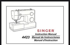 Singer 4423 Sewing Machine Instructrions Manual User Guide Reprinted Copy