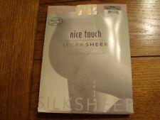 Nice Touch SILKSHEER Control Top Pantyhose Size C PEARL Sheer Reinforced Toe