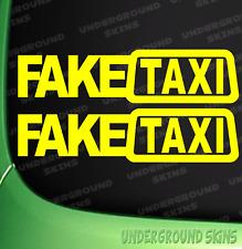 FAKE TAXI X2 FUNNY CAR STICKER DECAL WINDOW VAN JDM VW AUDI VINYL