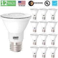 Sunco 12 Pack PAR20 Dusk to Dawn LED Light Bulb 7 Watt (50W EQ) 4000K Cool White
