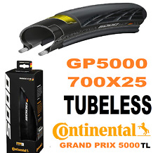 Pair of Continental GP 5000 TL 700 X 25c Tubeless Road Tyres