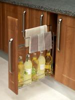 150mm Pullout Base Kitchen Unit Basket & Towel Rail Perfect Base Storage Rack