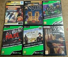 Bargain Bundle of 6 NEW and SEALED PC PUZZLE / MYSTERY / HIDDEN OBJECT Games