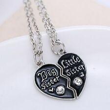 Best Friends Pendant Necklace Broken Heart Big Sister Little Sister Jewelry