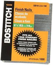BOSTITCH SB16-2.5-1M 2-1/2-Inch-by-16-Gauge Bright Finish Nail (1,000 per Box)