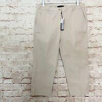 Talbots Signature Womens Cropped Chino Pants Size 8 Light Beige NWOT