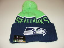 Seattle Seahawks Knit On Field New Era Toque Beanie Player Sideline Hat Cap NFL
