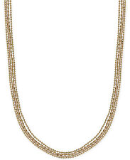 Lucky Brand Gold Tone Beaded Layer Necklace $49