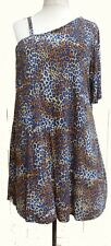 SIZE 24 Asymmetric One Sleeve Animal Print Top SIMPLY BE