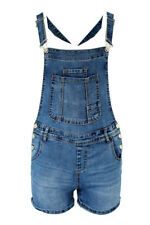 Women Denim  Overall Dungarees Salopette Stretchable Jeans Shorts SJ291