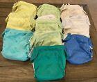 Lot Of 10 Bum Genius Cloth Diapers inserts Solids