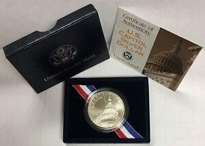 1994-D $1 Capitol Bicentennial Commemorative Silver Dollar in OGP BU