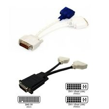 DMS-59 Pin to 2 Dual DVI / VGA & DVI 15 Pin Female Y Spliter Adapter Cable Cord