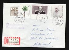Hamburg, West Germany--1988 Registered Cover to the Netherlands