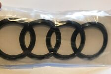 AUDI RINGS Curved REAR BOOT BADGE Black Gloss 192mm X 68mm FITS A5