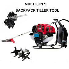 Multi3 in 1 Lawn Backpack 52cc gasoline mini tiller cultivator digging farm tool