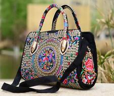 Flowers Embroidered Women Shoulder Handbag Bag Tote Canvas Messenger Bag