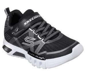 Skechers Sneaker Med Flex-Glow - Schwarz / Charcoal Polyester Normal Kinder