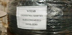6 Pair Cable CW1308, 100% Copper Conductors BT Black
