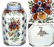Vintage Delftse Pauw Polychrome Handpainted Ginger Jar