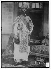 "8"" x 10"" 1917 Photo Heir to Abyssinian throne Haile Selassie"