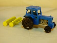 Vintage 1978 Matchbox Superfast no 46 Blue Ford Tractor with Harrow Diecast Toy