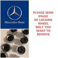 MERCEDES LOCKING WHEEL BOLT/NUT KEY REMOVER - A, C, E CLASS SEND PICTURE 301-330