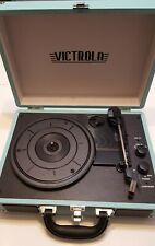 Victrola Bluetooth Portable Suitcase Record Player 3-speed Turntable Turquoise
