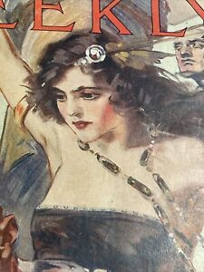1920 ALL STORY WEEKLY Pulp Magazine Shadow People Exotic Woman Cover
