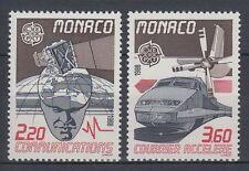 Monaco 1988 ** Mi.1859/60 Eisenbahn Railway TGV Locomotive [sq4415]