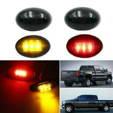 For Ford F350 F-Series 4pc Amber/Red LED Fender Bed Side Marker Lights Smoked