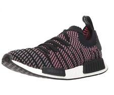 Adidas Originals Men's NMD_R1 STLT PK Running Shoe, Black/Grey/Solar Pink, 8.5 M