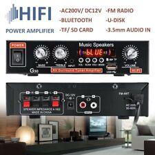 800W HIFI Bluetooth Car Audio Power Amplifier FM Radio Player Cinema Home Car