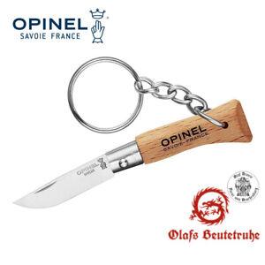 Taschenmesser No 02, rostfrei, mit Schlüsselanhänger, Natur