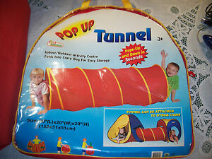 5-feet Play Tunnel Toy First Learning Pop up Discovery Tube
