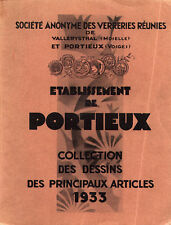 Portieux Glass - 1933 catalog on DVD