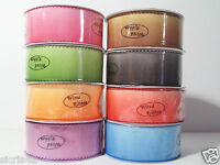 """1 1/2"""" Wire-Edged Ombre Ribbon with Stitched Edge"""