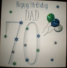 PERSONALISED HANDMADE DAD 70TH BIRTHDAY CARD
