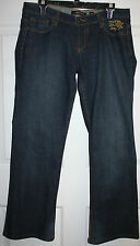 Mens Ed Hardy Denim Embroidered Pocket Relaxed Fit Blue Jeans Pants Sz 32 x 29