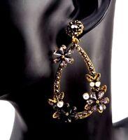 Boucles d'Oreilles Femme,Cristaux,Perles,Acier Couleur Or,Élégantes,Chic,Mode,FR
