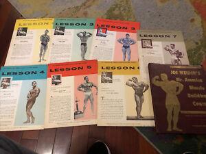 Lot (7) JOE WEIDER MR AMERICA MUSCLE BUILDING COURSE bodybuilding booklets