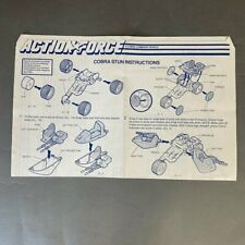 Action Force – Cobra Stun Instructions Manual Blueprint - Hasbro - 49821