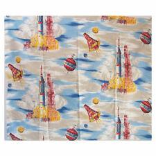 Polycotton Fabric Alien Spaceships Rocketship UFOs Alien Invasion