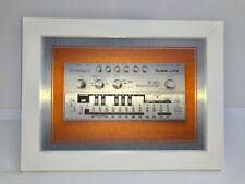 "FRAMED Roland TB 303 BassLine 'ACID HOUSE' Synth print onA4 Aluminium 10x14"" NEW"